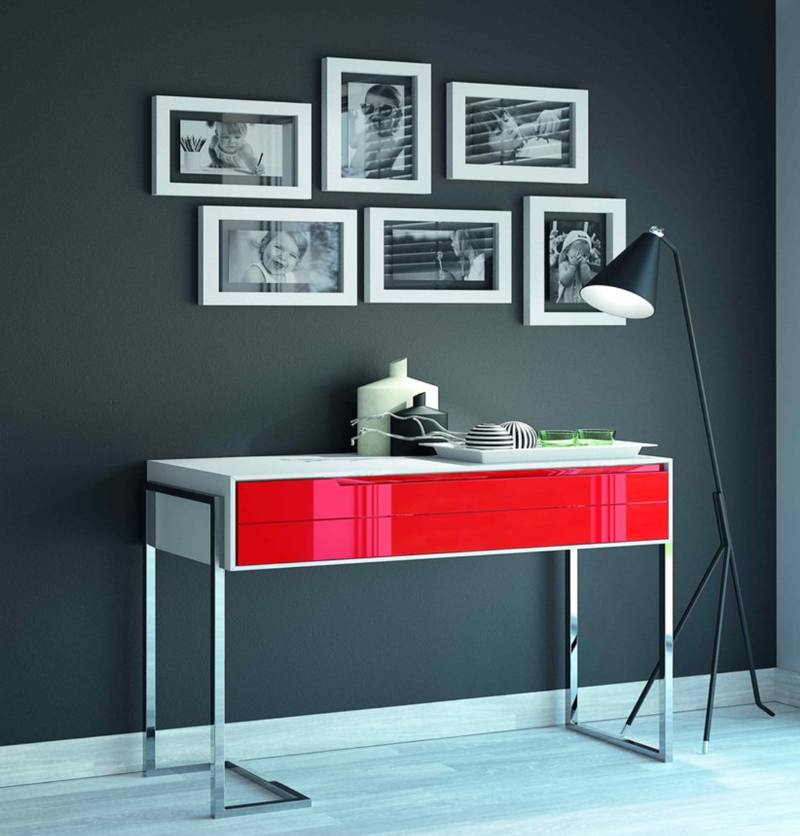 console moderne lea meubles steinmetz. Black Bedroom Furniture Sets. Home Design Ideas