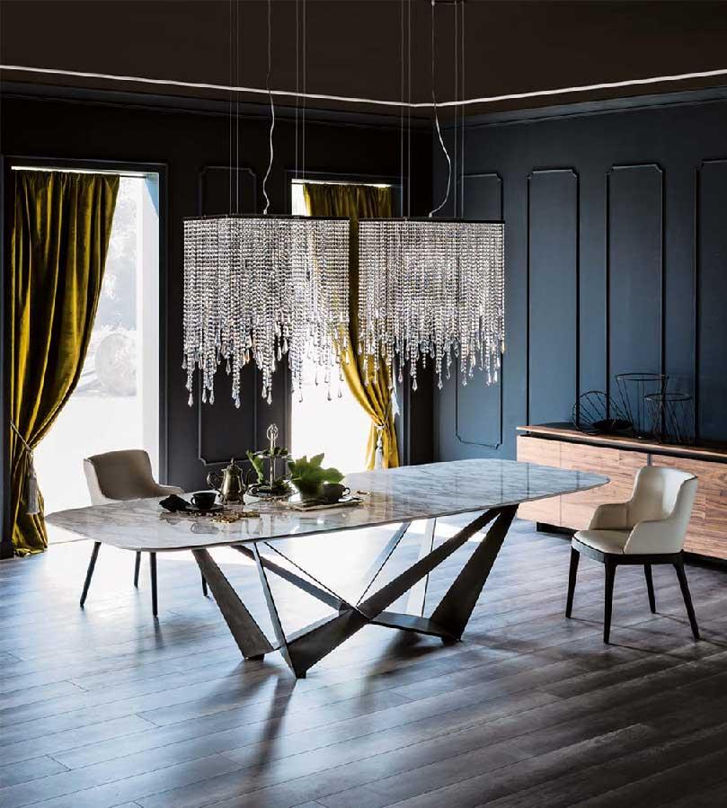Table skorpio keramik meubles steinmetz for Tavolo marmo design