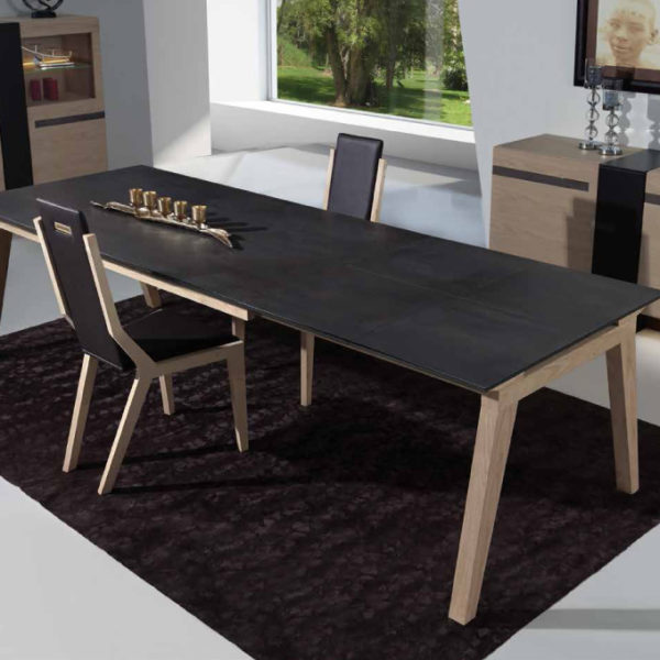 Table adelaide fixe ou extensible meubles steinmetz - Meuble table extensible ...
