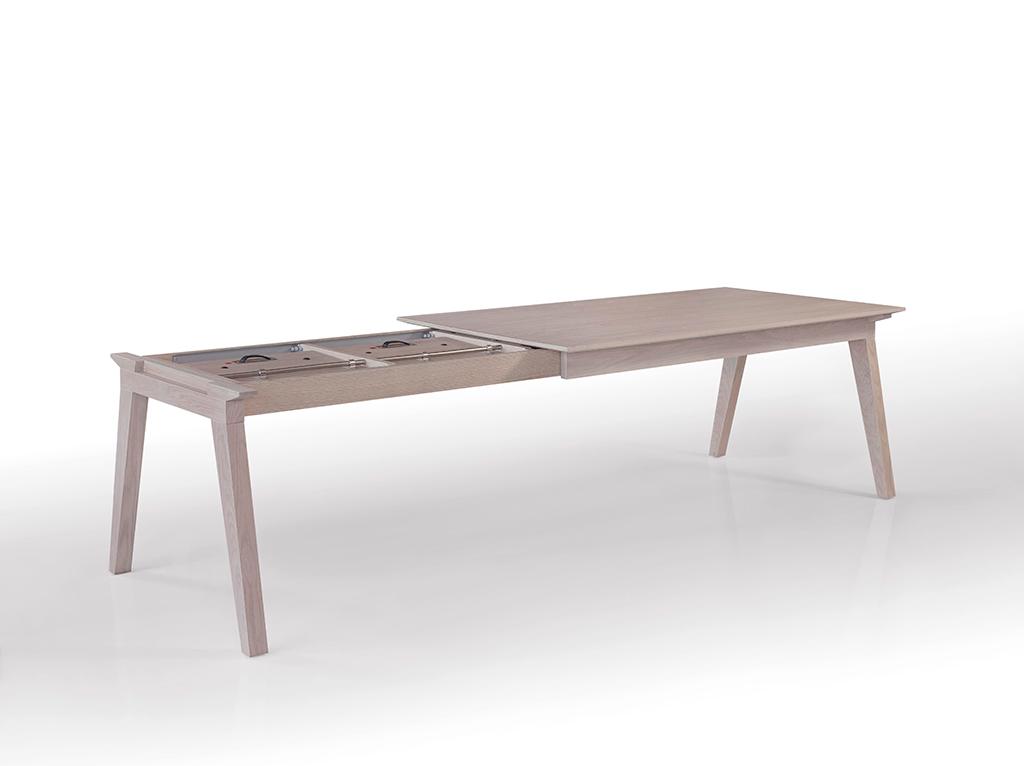 Table adelaide fixe ou extensible meubles steinmetz for Meuble table extensible