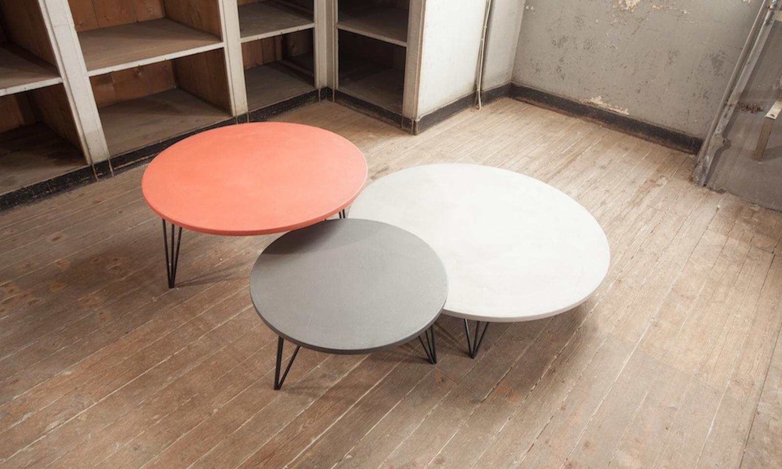 Table basse enduit b ton meubles steinmetz for Table basse effet beton