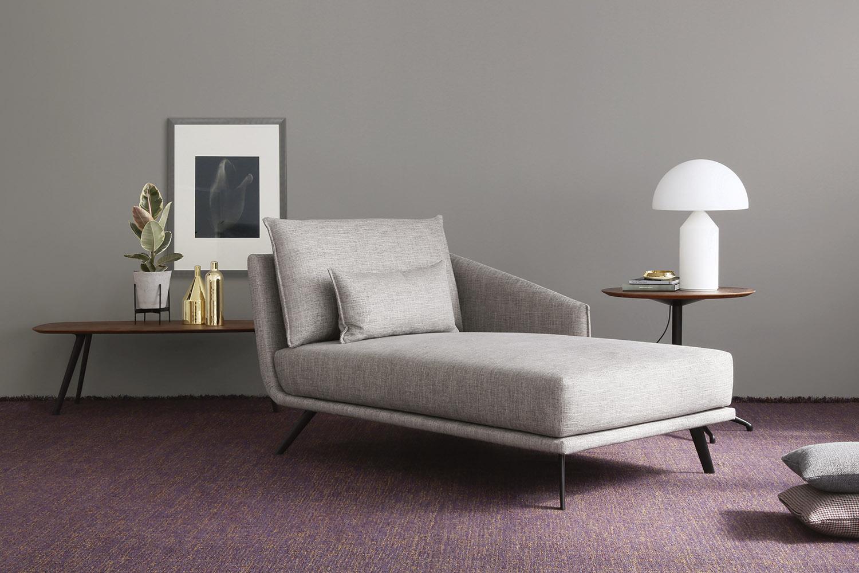 Canap m ridien pouf costura meubles steinmetz - La chaise longue rue princesse ...