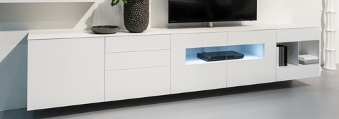 meuble tv karat avec vitrine meubles steinmetz. Black Bedroom Furniture Sets. Home Design Ideas