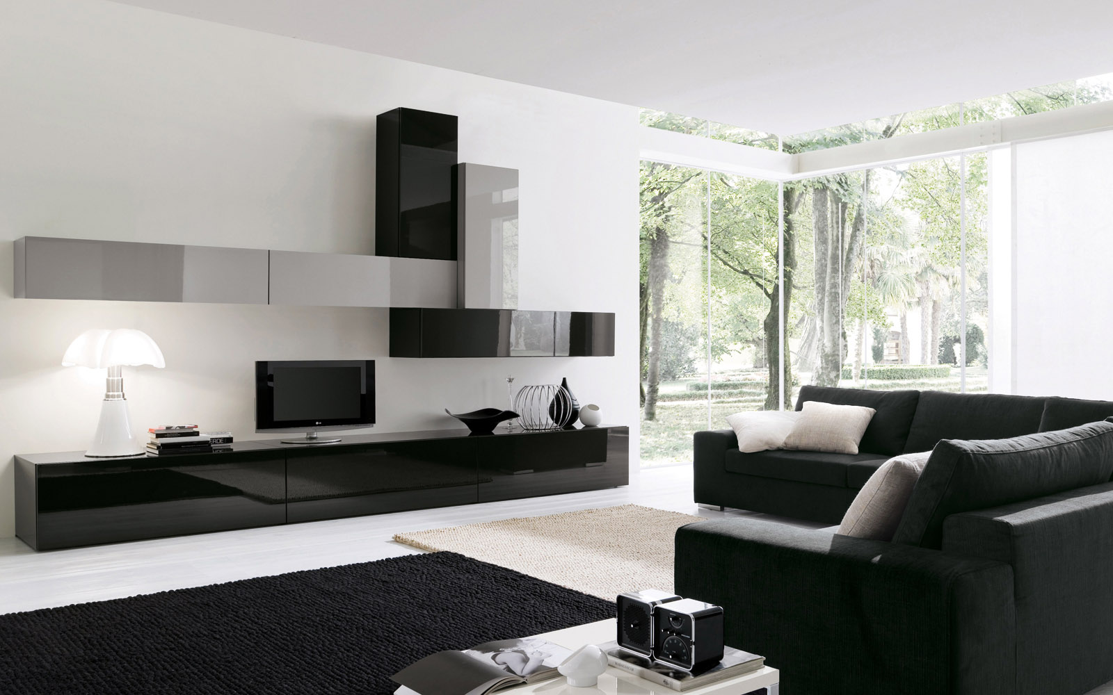 biblioth que murale b124 meubles steinmetz. Black Bedroom Furniture Sets. Home Design Ideas