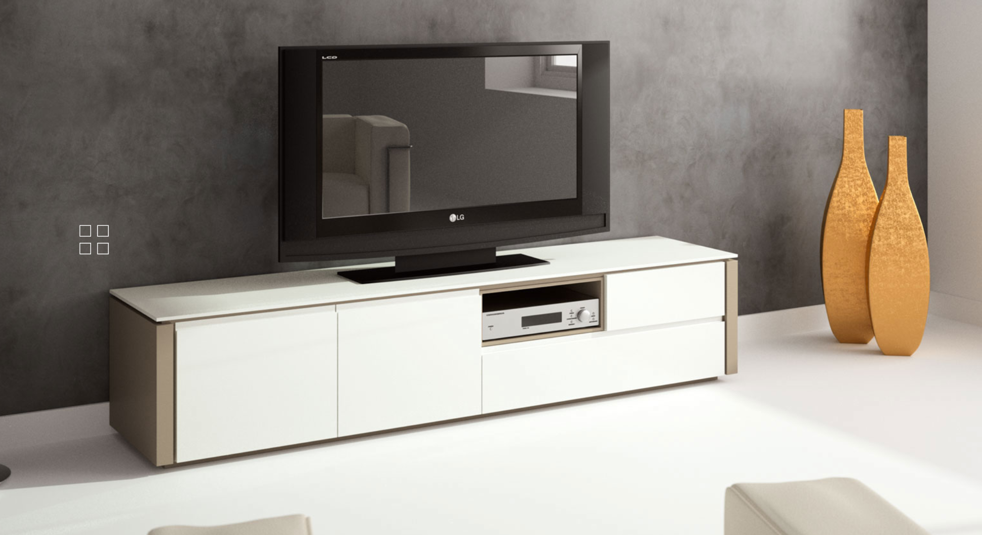 meuble tv milano meubles steinmetz. Black Bedroom Furniture Sets. Home Design Ideas