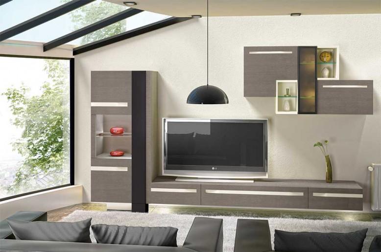 composition meuble tv adelaide meubles steinmetz. Black Bedroom Furniture Sets. Home Design Ideas