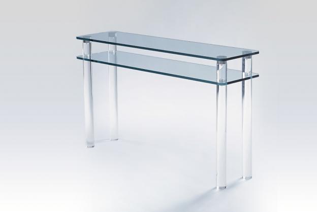 Console en plexiglas verre marais meubles steinmetz - Meuble plexiglas design ...