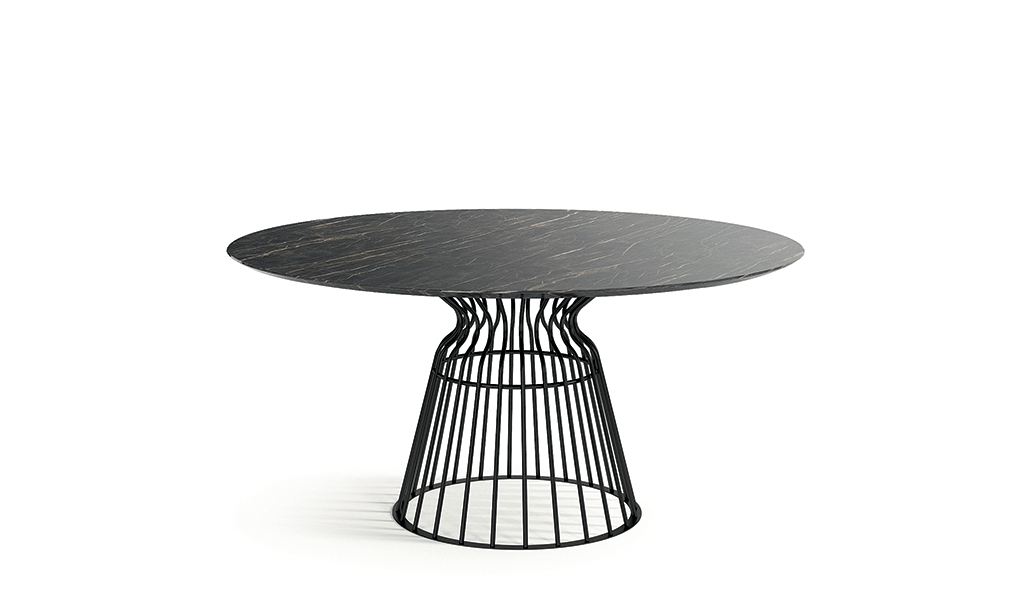 Table ronde haute et basse meubles steinmetz - Table haute et basse ...